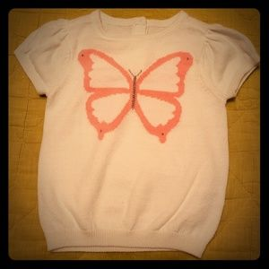 Butterfly sweater with button back